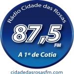 Logo da emissora Rádio Cidade das Rosas 87.5 FM
