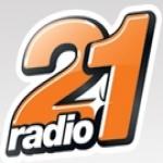 Logo da emissora Radio 21 100.2 FM