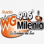 Logo da emissora Radio WG  Milenio 92.5 FM