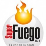 Logo da emissora Radio Fuego 107.1 FM
