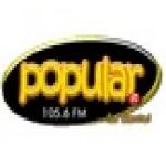 Logo da emissora Radio Popular Stereo 105.6 FM