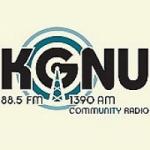 Logo da emissora Radio KGNU 88.5 FM 1390 AM