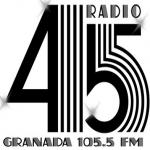 Logo da emissora Radio 45 FM 105.5