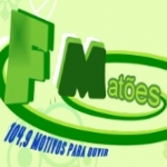 Logo da emissora R�dio Mat�es 104.9 FM