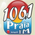 Logo da emissora Rádio Praia 106.1 FM