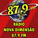 Logo da emissora Rádio Nova Dimensão 87.9 FM