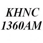 Logo da emissora KHNC 1360 AM The Lion