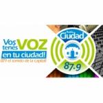 Logo da emissora Radio Ciudad 87.9 FM
