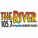 Logo da emissora Radio The River 105.7 FM