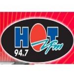 Logo da emissora Radio Hot 94.7 FM