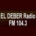 Logo da emissora Radio El Deber 104.3 FM