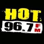 Logo da emissora Radio KHTO 96.7 FM
