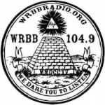 Logo da emissora Radio WRBB 104.9 FM