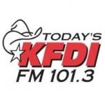 Logo da emissora Radio KFDI 101.3 FM