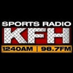 Logo da emissora Radio KFH Sports 1240 AM 98.7 FM
