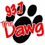 Logo da emissora Radio WDGG The Dawg 93.7 FM