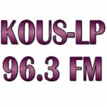 Logo da emissora Radio KOUS 96.3 FM