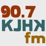 Logo da emissora Radio KJHK 90.7 FM