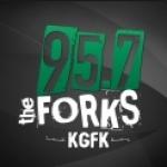 Logo da emissora KGFK 95.7 FM