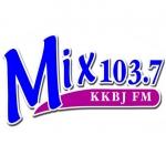 Logo da emissora KKBJ 103.7 FM