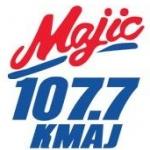Logo da emissora Radio KMAJ Majic 107.7 FM