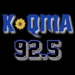 Logo da emissora Radio KQMA 92.5 FM
