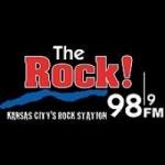Logo da emissora Radio KQRC The Rock 98.9 FM