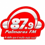 Logo da emissora Radio Palmares 87.9 FM