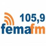 Logo da emissora Radio FEMA 105.9 FM