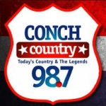 Logo da emissora WCNK 98.7 FM Conch Country