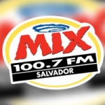 Logo da emissora R�dio Mix 100.7 FM