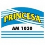 Logo da emissora Rádio Princesa 1030 AM