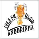 Logo da emissora Rádio Andorinha FM 100.9