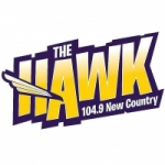 Logo da emissora Radio KQCS The Hawk 104.9 FM