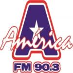 Logo da emissora R�dio Am�rica 90.3 FM