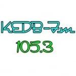 Logo da emissora Radio KEDB 105.3 FM