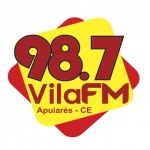 Logo da emissora Rádio Vila 98.7 FM