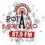 Logo da emissora Rádio Rota da Imigração 87.9 FM