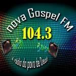 Logo da emissora Rádio Nova Gospel 104.3 FM