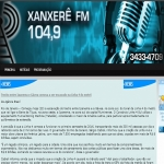 Logo da emissora Rádio Xanxerê 104.9 FM
