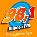 Logo da emissora Rádio Aliança 98.1 FM