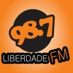 Logo da emissora Rádio Liberdade 98.7 FM