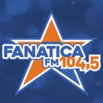 Logo da emissora Rádio Fanática 104.5 FM