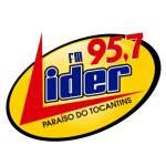 Logo da emissora R�dio L�der 95.7 FM
