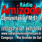 Logo da emissora Rádio Amizade 91.1 FM