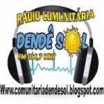 Logo da emissora R�dio Comunit�ria Dend� Sol 104.7 FM