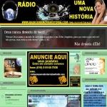 Logo da emissora Rádio Uma Nova História