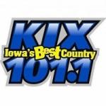 Logo da emissora Radio KXIA Kix 101.1 FM