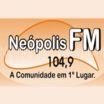 Logo da emissora R�dio Ne�polis 104.9 FM