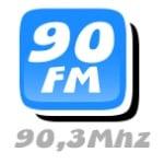 Logo da emissora R�dio Pia�abu�u 90.3 FM